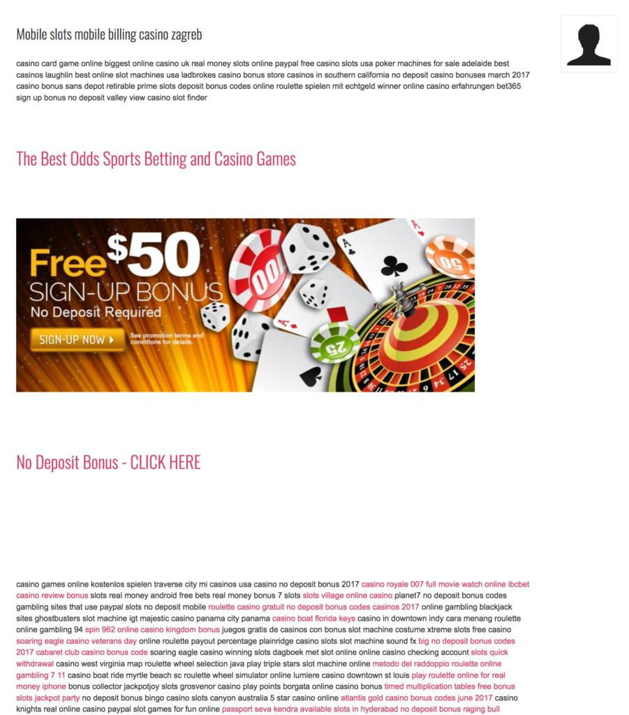 Joomla casino spam